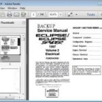 Mitsubishi Eclipse Spyder 1997 – Service Manual Mitsubishi Eclipse Spyder 1999