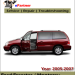 Ford Freestar 2005 2006 2007 Workshop Repair Manual – Car Service