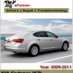 Kia Cadenza 2009 Suspension Tires Technical Service Repair Manual