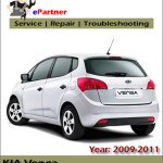 Kia Venga 2009 2010 2011 Service Repair Manual – Car Service
