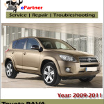 Toyota Rav4 2009 2010 2011 Service Repair Workshop Manual