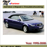Audi A4 B5 1997 1998 2001 Mechanical Service Workshop Repair Manual