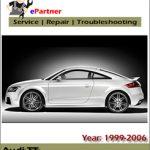 Audi TT 1999-2005 Factory Service Repair Manual