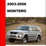 Mitsubishi Pajero Montero 2004 2005 Technical Service Manual Download Pdf